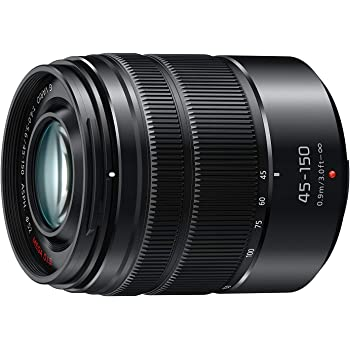 Panasonic H-FS45150AK-CR Lumix G Vario Lens, F4.0-5.6 ASPH, Mirrorless Micro Four Thirds, Mega Optical I.S, (Black) (Renewed), 45-150MM