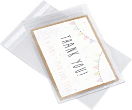 """Pack It Chic - 5"""" X 7"""" (200 Pack) Clear Resealable Cellophane Cello Bags - Fits 5X7 Prints, Photos, A2 A4 A6 Cards & Envel..."""