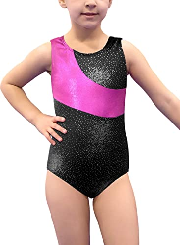 One-piece Shining V Stripes Gymnastics Athletic Leotard for Little Girls