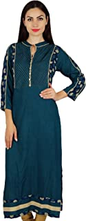 Women Indian Designer Kurta Kurti Boho Collar Neck Custom Blouse
