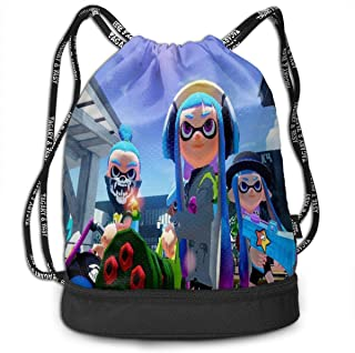 Spla-toon Bundle Backpack, 3D Printing Breathable Drawstring Bags For Mans,Woman,Boys,Girls