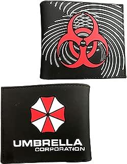 Resident Evil Umbrella Corporation Logo PU Wallet Folding Short Purse for Women Men
