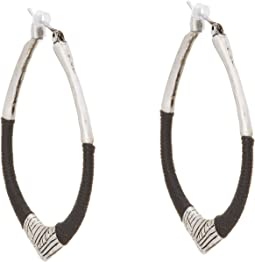 The Sak - String Forward Third Arabesque Hoop Earring