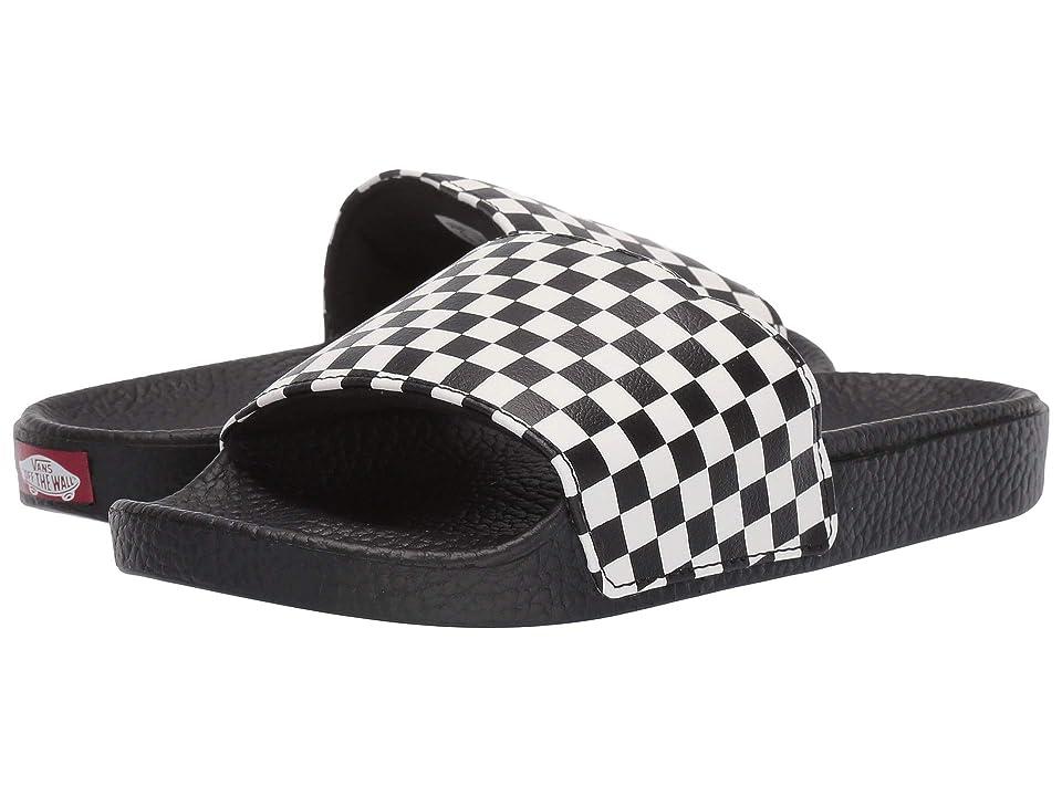 Vans Kids Slide-On (Little Kid/Big Kid) ((Checkerboard) White) Kids Shoes