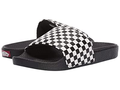 Vans Kids Slide-On (Little Kid/Big Kid) ((Checkerboard) White) Kids Shoes