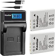 Kastar Battery X2 & Slim LCD Charger for Nikon EN-EL8 Coolpix P1 P2 Coolpix S1 S2 S3 S5 S6 Coolpix S7 S7c Coolpix S8 Coolpix S9 Coolpix S50 Coolpix S51 S51c Coolpix S52 S52c Cool-Station MV-11 MV-121