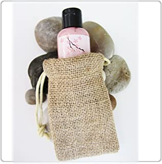 """New Burlap Favor Bags With Drawstring 3x5"""" - Pack Of 24 Bags Small"""