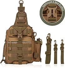 BLISSWILL Fishing Backpack Outdoor Tackle Bag Multifunctional Water-Resistant Fishing Bag Single Shoulder Bag Crossbody Fishing Gear Storage Bag Hunting Backpack