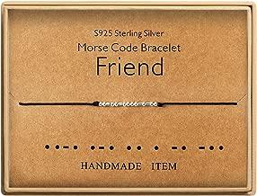 Best Friend Bracelet Sterling Silver Beads on Silk Cord Secret Message Friendship Bracelets Gift for Friend
