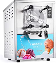Olibelle 1400W 16-20L/H Machine à Crème Glacée Professionnelle en Acier Inoxydable Sorbetiere Electrique Commerciale Ice C...