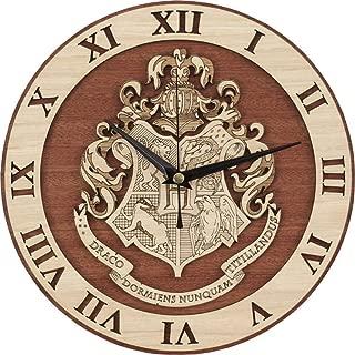 SFHTFTRGJRYJ Porter College Logo Reloj De Pared Reloj De Pared De Madera Vida de Moda Salón Dormitorio Montado En La Pared En La Pared Reloj De Cuarzo Reloj Creativo 30 Cm