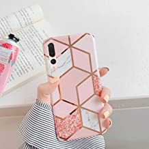PHEZEN Case for Huawei P20 Pro Case,Girls Women IMD Geometric Marble Pattern IMD Glossy Shockproof Clear Bumper Ultra Slim...