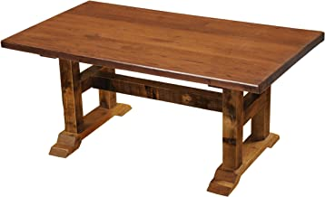 """product image for Barnwood Timbers Dining Table - Reclaimed Antique Oak Artisan Top - 60"""""""