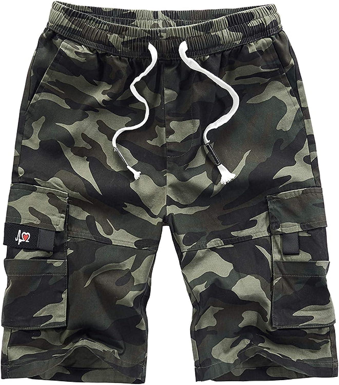 Men's Plus Size Cargo Shorts Stitching Pocket Street Fashion Trend All-Match Camouflage