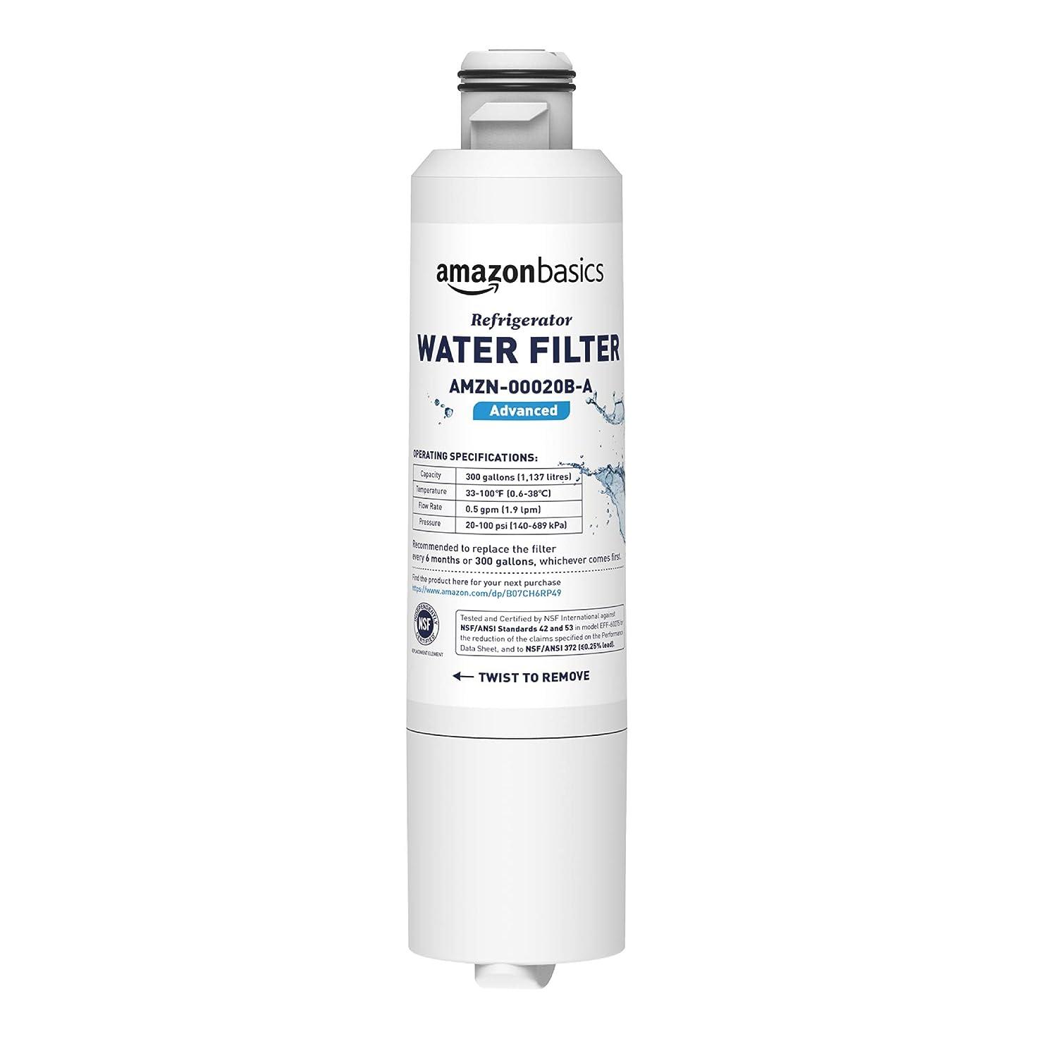 AmazonBasics Replacement Samsung DA29-00020B Refrigerator Water Filter - Advanced Filtration rumprugokdpzv0