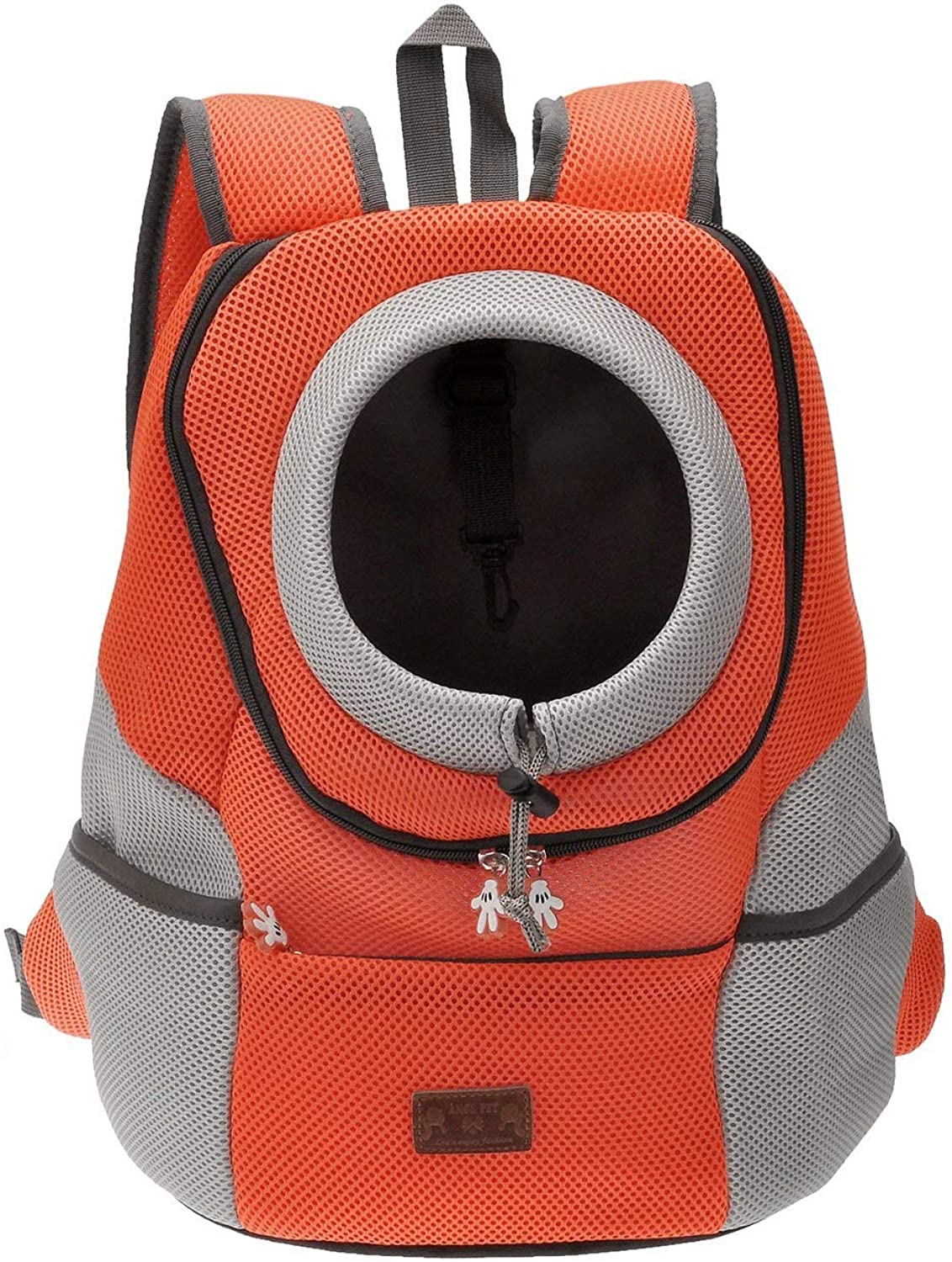 Dog Carrier Backpack Comfortable Dog Cat Carrier Backpack, Puppy Pet Front Bag with Breathable Head Out Design and Padded Shoulder for Hiking Outdoor Travel
