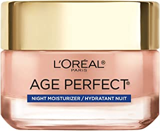 Rosy Tone Cooling Night Moisturizer by L'Oreal Paris Skin Care, Age Perfect Face Moisturizer to Reactivate Rosy Radiance a...