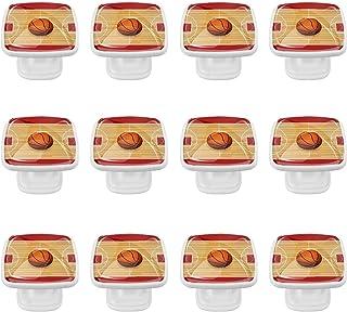 Boutons D'armoire 12 Pcs Poignés Poignée De Champignons Porte Poignées avec Vis pour Cabinet Tiroir Cuisine,Stade de baske...
