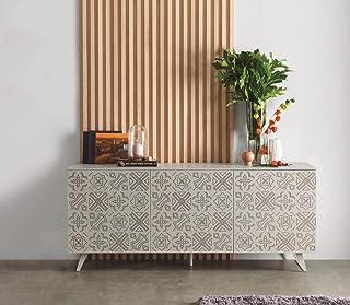 Dugar Home - Aparadores Modernos para Salón - Mueble Rectangular Manchester Piedra (180x45x 72)