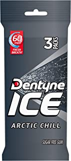 Dentyne Ice Sugar Free Gum (Arctic Chill, 16 Piece, Pack of 3)