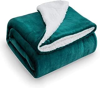 Bedsure Sherpa Fleece Blanket Throw Size Emerald Green Plush Throw Blanket Fuzzy Soft Blanket Microfiber
