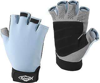 Palmyth UV Fishing Gloves Sun Protection Fingerless Kayaking Glove Men Women UPF 50+ SPF for Sailing, Hiking, Paddling, Canoeing, Rowing, Driving