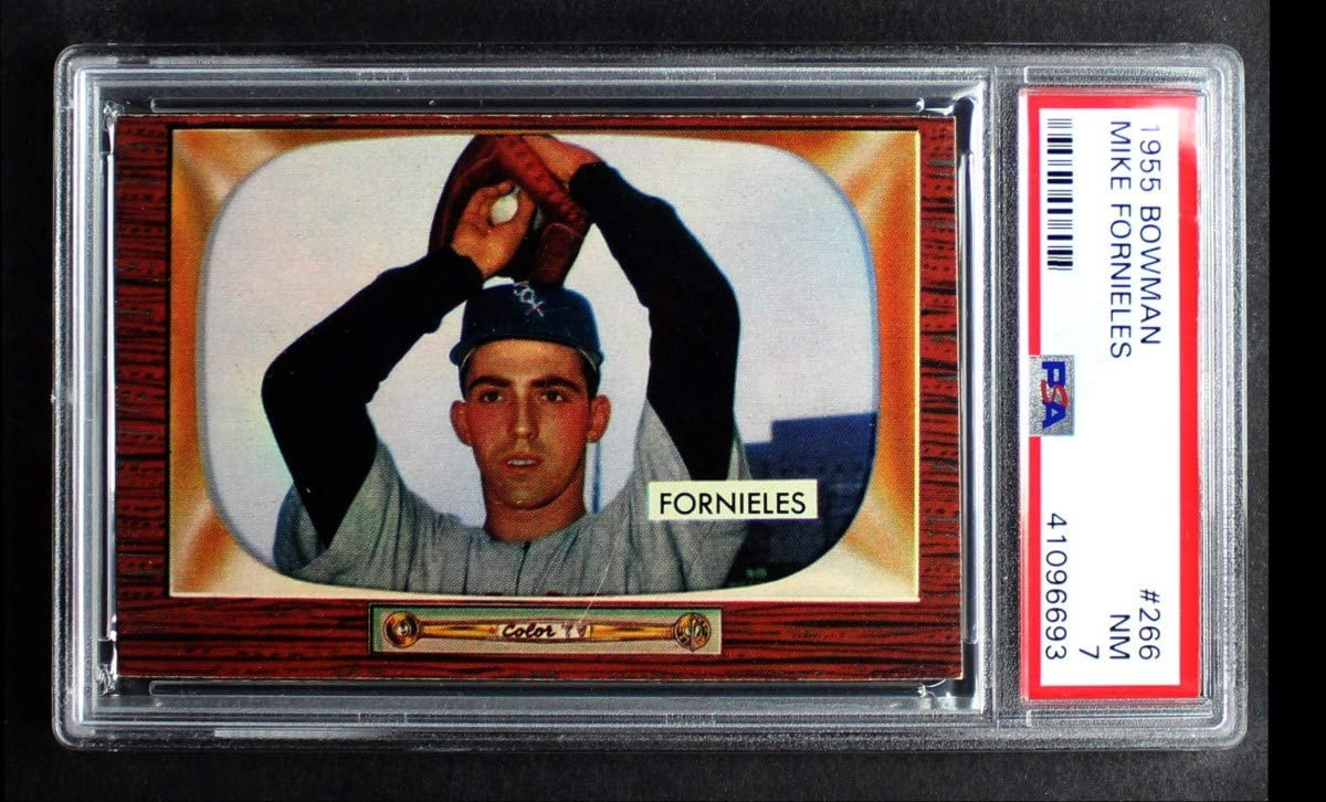 1955 Max 51% OFF Bowman # 266 Mike Fornieles Sox White Super sale period limited Car Baseball Chicago