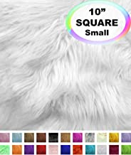 "Long Hair White Faux Fur Fabric 20/"" x 30/"" Craft Costume Newborn Prop"