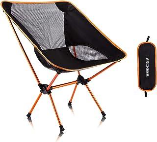 ANCHEER アウトドアチェア 折りたたみ 【耐荷重150kg】 超軽量 キャンプ椅子 レジャーチェア イス コンパクト 登山 お釣り 収納袋付き 携帯便利 一年安心保障