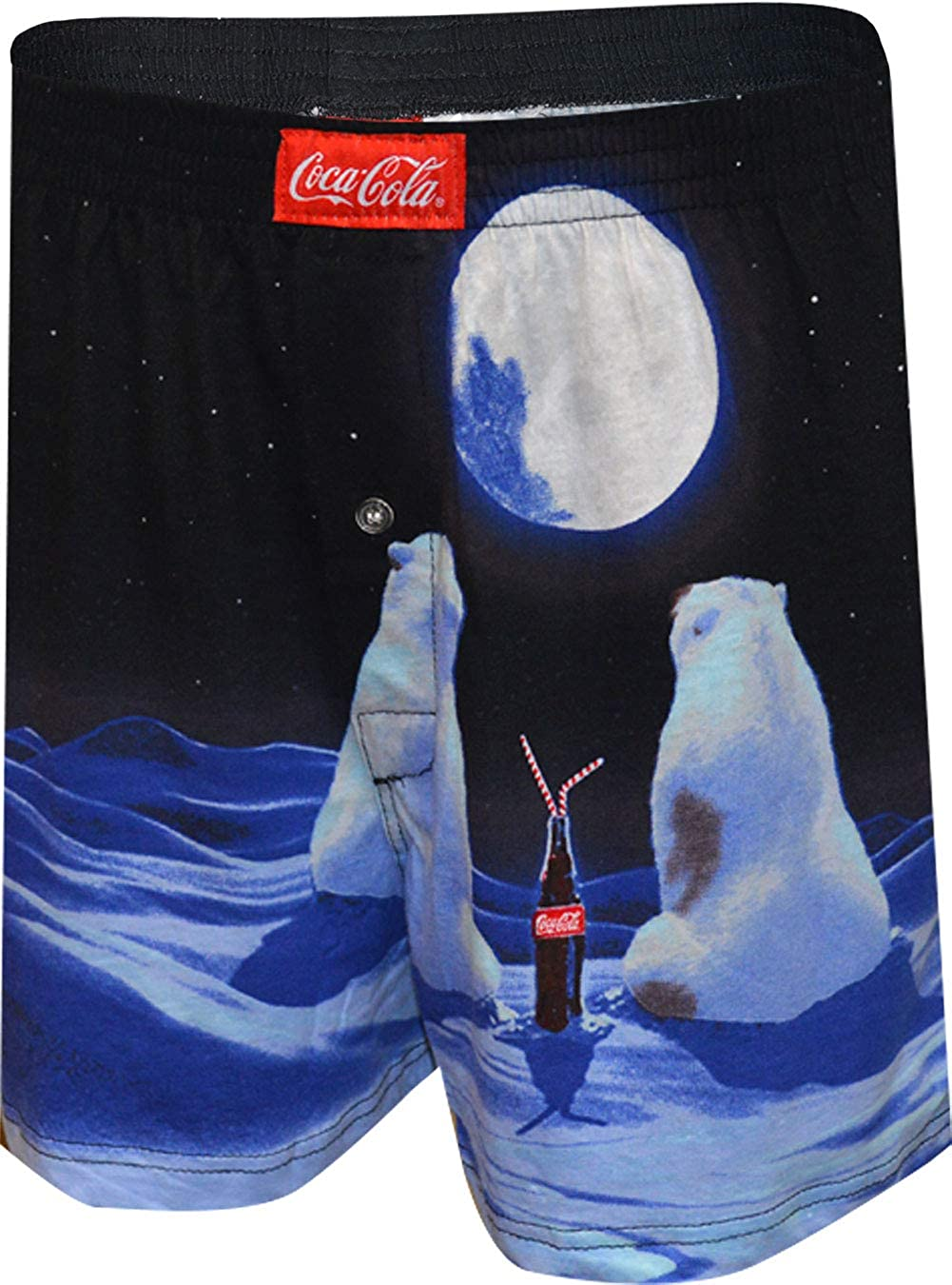 MJC Men's Coca Cola Bears in The Moonlight Boxer Shorts