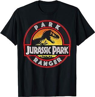Jurassic Park Ranger Danger Orange Gradient Icon T-Shirt