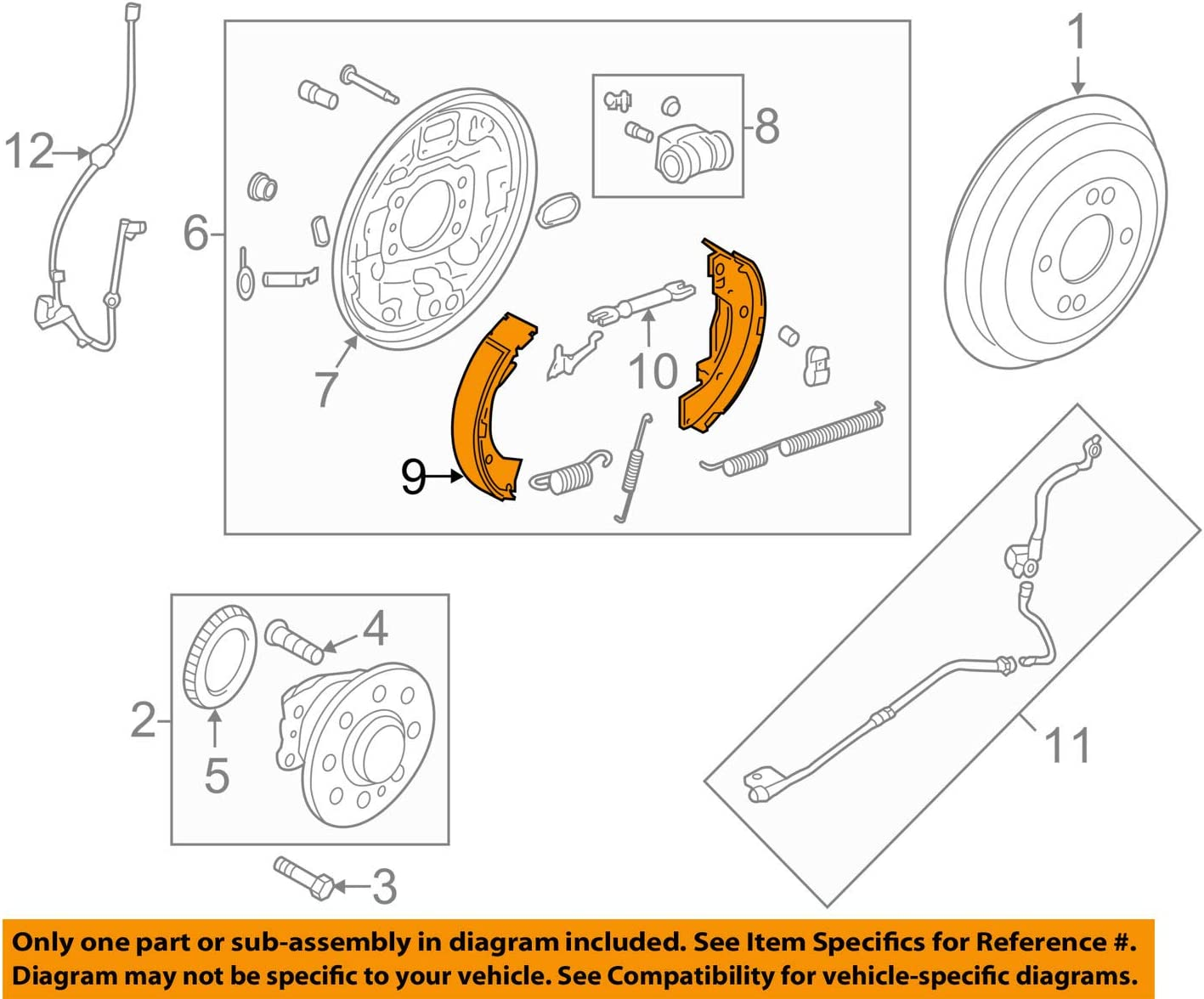 Genuine Hyundai 58305-3XA00 low-pricing Parking Brake All stores are sold and R Kit Lining Shoe