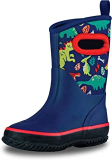 All Weather MudBoots for Toddlers and Kids - Warm Neoprene Boots for Rain, Muck, Snow