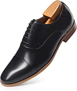 Mens Dress Shoes Oxford Formal Lace Up Wingtip Leather Shoes for Men