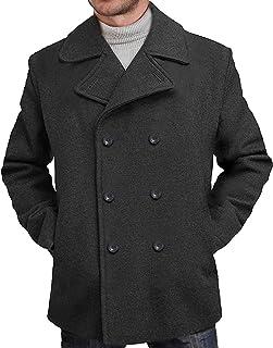 BGSD Mens Mark Classic Wool Blend Pea Coat (Regular ...