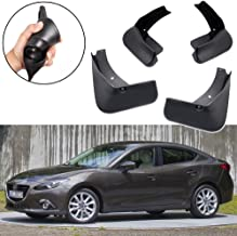 SPEEDLONG Car Mud Flaps Splash Guard Fender Mudguard Black for Mazda 3 Sedan 4-Door 2014-2018 15 16 17