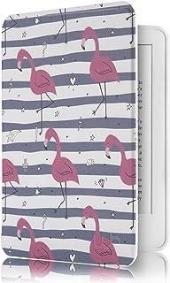 Capa Novo Kindle Paperwhite à Prova D'água WB® Ultra Leve Auto Hibernação Sensor Magnético Silicone Flexível Flamingos