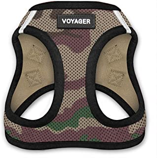 Voyager All Weather No Pull Step-in Mesh Dog Harness with Padded Vest, Best Pet Supplies, Extra Small, Army Base
