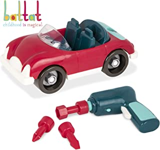 Battat  Take-Apart Roadster Car Toy Vehicle Assembly playset with Functional Battery-Powered Drill-Early Childhood Developmental Skills Toy for Kids Aged 3 and up