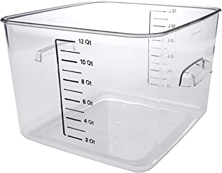 Rubbermaid Commercial Products Plastic Space Saving Square Food Storage Container For..
