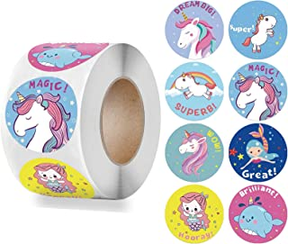 Unicorn Stickers, Party Favors 500pcs/1000pcs Cute LabeL for Kids and Girls 1 inch Self Adhesive Decoration for Party Gift...