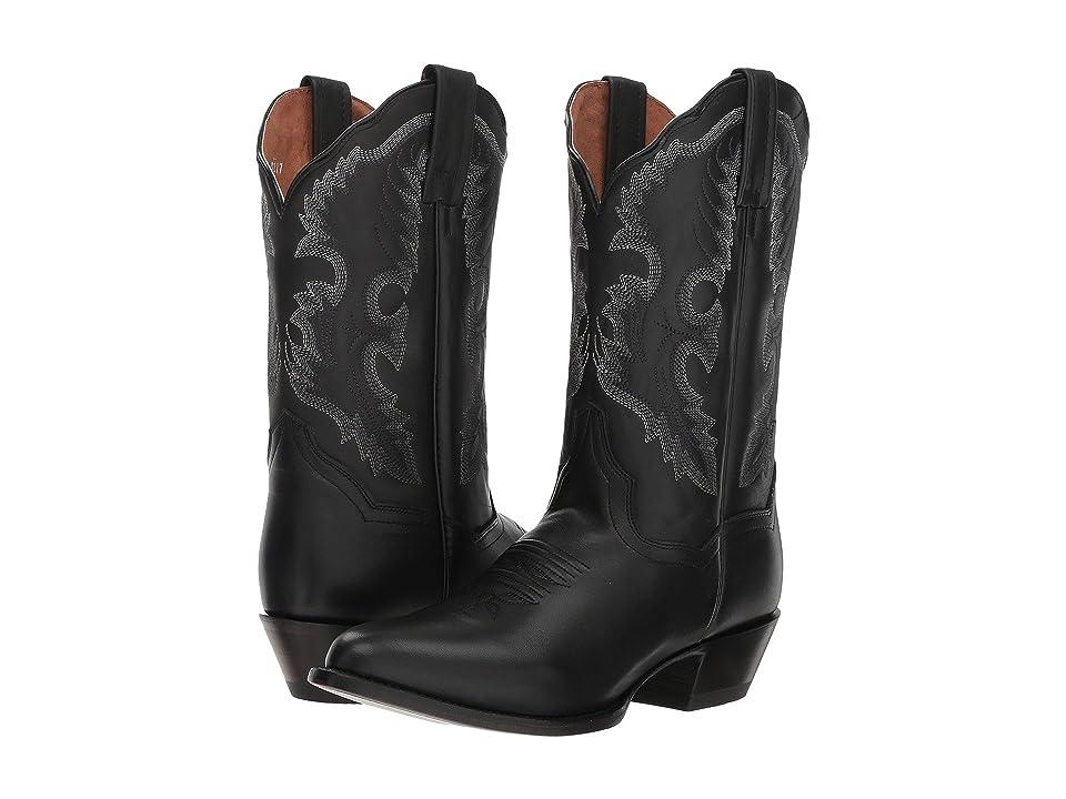 Dan Post Bev (Black Leather) Cowboy Boots