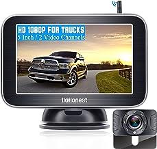 "DoHonest Wireless Backup Camera HD 1080P with 5"" Monitor for Truck Pickup Car Minivans Small RV Bluetooth Backup Camera Ni..."