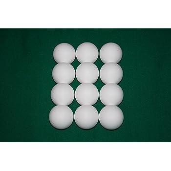 Arcam Bola futbolin Resina Color Blanco Brillo 35g 34mm 15 unid ...