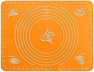 ZHEBEI Tapis de cuisson, tapis de cuisson avec point de mesure, tapis résistant à la chaleur orange