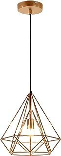[lux.pro] Lámpara de techo moderna bronce metal look industrial [1 x E27] longitud 200cm
