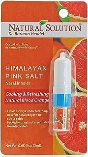 Sponsored Ad - Natural Solution Pink Salt Aromatherapy Nasal Inhaler with Refreshing Blood Orange Essential Oils, Natural ...
