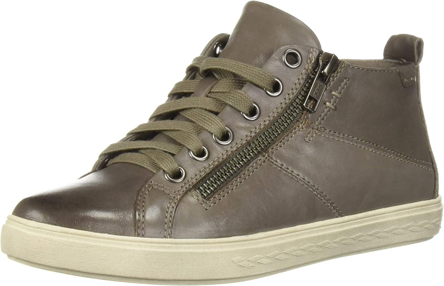 Cobb Hill Damen Willa High Top Turnschuh, graues Leder, 38.5 EU