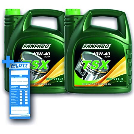 Fanfaro 4x 5l Tsx 10w 40 Engine Oil Api Sn Sl Cf 20 Litres Auto
