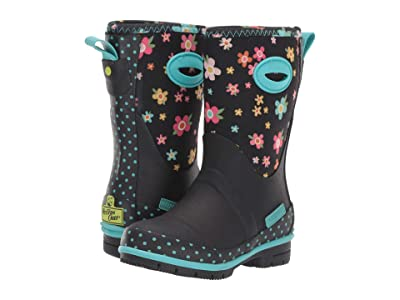 Western Chief Kids Daisy Delight Neoprene Boot (Toddler/Little Kid/Big Kid) (Black) Girls Shoes